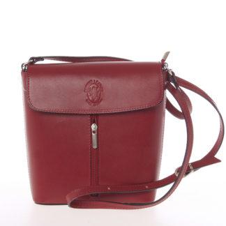 Dámská kožená crossbody kabelka červená - ItalY Marketa červená