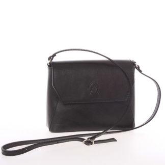 Dámská kožená crossbody kabelka černá - ItalY Marleta černá