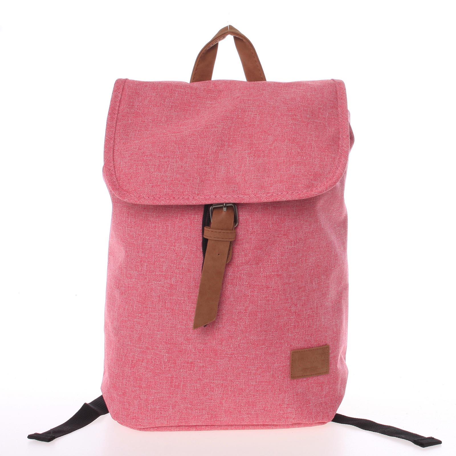 Elegantní látkový růžový batoh - New Rebels Morpheus růžová