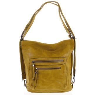 Dámská kabelka batoh tmavě žlutá - Romina Jaylyn žlutá