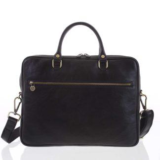 Kožená business taška černá - ItalY Claudio černá