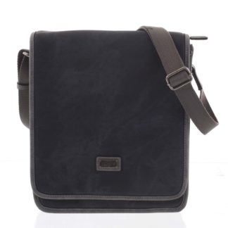 Černá moderní pánská taška přes rameno - Lee Cooper Adrastos černá
