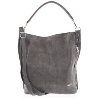 Elegantní dámská kabelka přes rameno tmavá taupe - Ellis Negina taupe