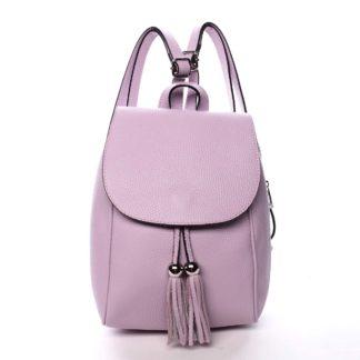Dámský kožený batůžek fialový - ItalY Joseph fialová