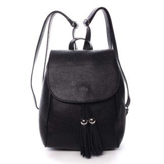Dámský kožený batůžek černý - ItalY Joseph černá