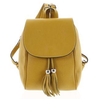Dámský kožený batůžek žlutý - ItalY Joseph zlatá