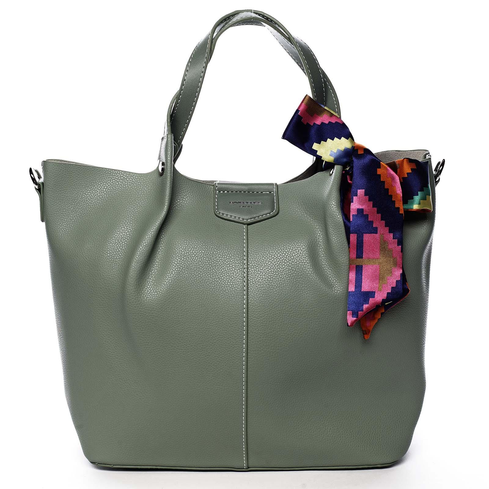 Dámská kabelka světle zelená - David Jones MyWay zelená