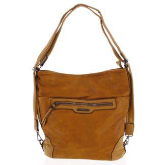 Dámská kabelka batoh tmavě žlutá - Romina Zilla žlutá