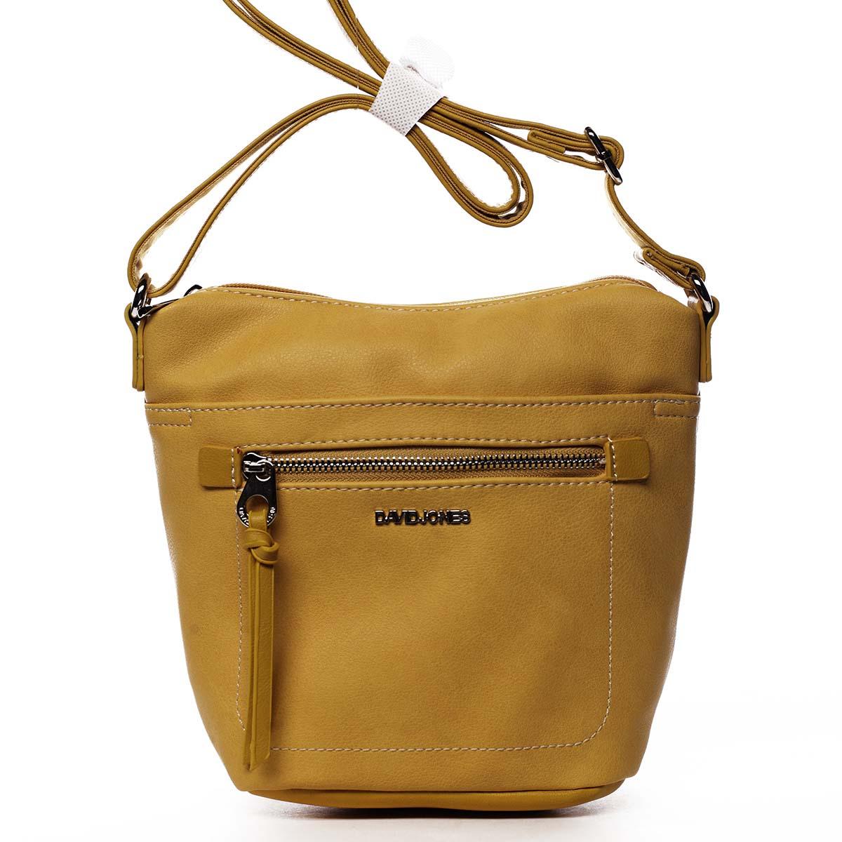 Dámská crossbody kabelka žlutá - David Jones Iayne žlutá