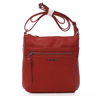 Dámská crossbody kabelka červená - David Jones Eayni červená