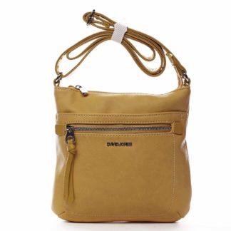 Dámská crossbody kabelka žlutá - David Jones Eayni žlutá