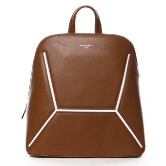 Dámský módní batoh světle hnědý - David Jones Haptun hnědá
