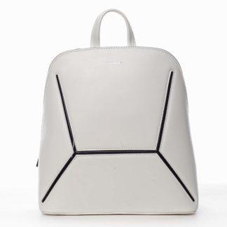 Dámský módní batoh bílý - David Jones Haptun bílá