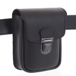Pánská kožená kapsa na opasek černá - Kabea Unum černá