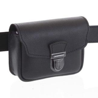 Pánská kožená kapsa na opasek černá - Kabea Simplex černá