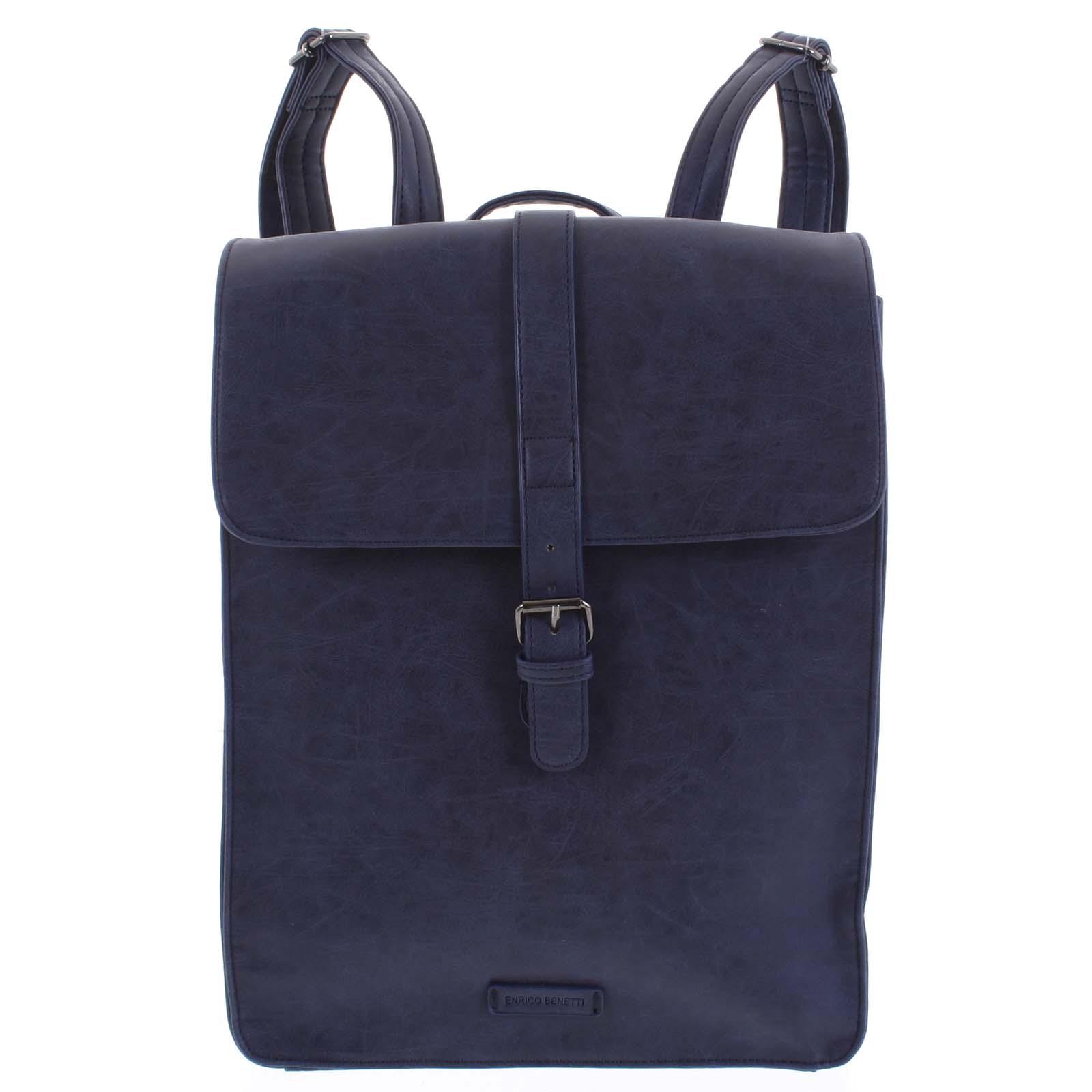 Stylový batoh tmavě modrý - Enrico Benetti Darlo tmavě modrá