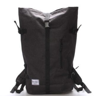 Jedinečný velký stylový unisex batoh černý - New Rebels Rebback černá