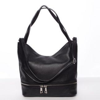 Dámská stylová kožená kabelka přes rameno černá - ItalY Acness černá