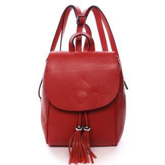 Dámský kožený batůžek červený - ItalY Joseph červená