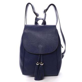 Dámský kožený batůžek tmavě modrý - ItalY Joseph modrá