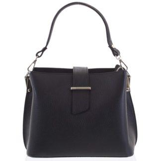 Dámská kožená kabelka do ruky černá - ItalY Auren černá