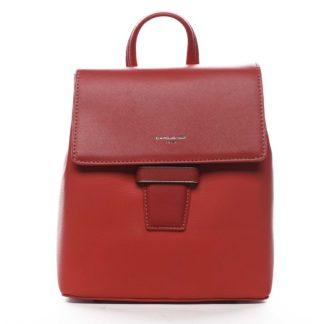 Dámský městský batůžek kabelka červený - David Jones Kancy červená