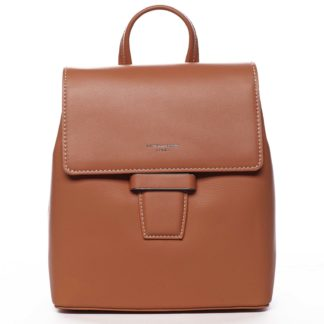 Dámský městský batůžek kabelka oranžový - David Jones Kancy oranžová