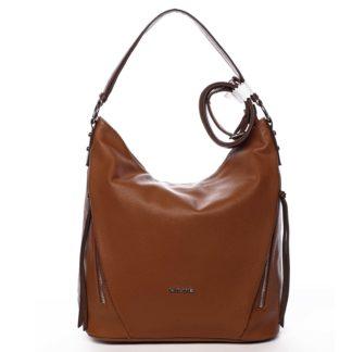 Dámská kabelka přes rameno světle hnědá - David Jones Rihanna hnědá