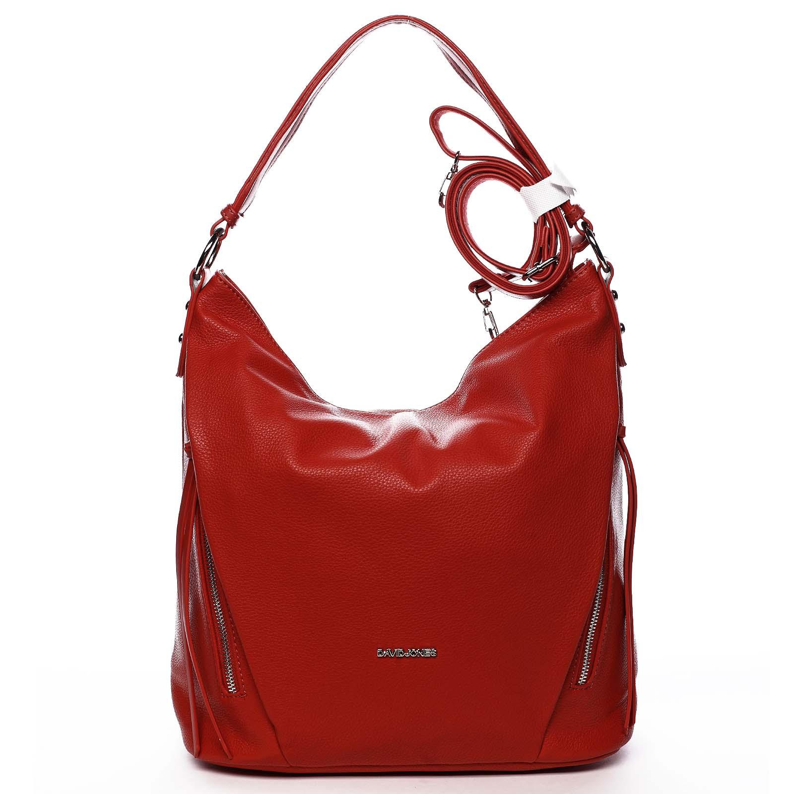 Dámská kabelka přes rameno červená - David Jones Rihanna červená