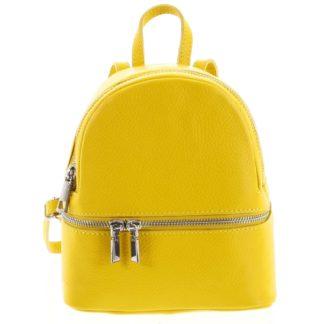 Dámský kožený batůžek žlutý - ItalY Rocme žlutá