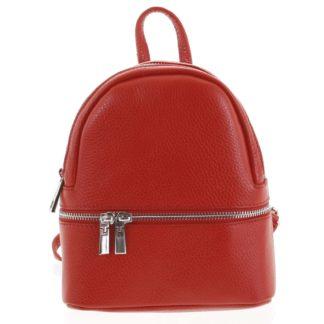Dámský kožený batůžek červený - ItalY Rocme červená