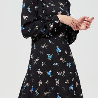 Moodo černé šaty s kytičkami