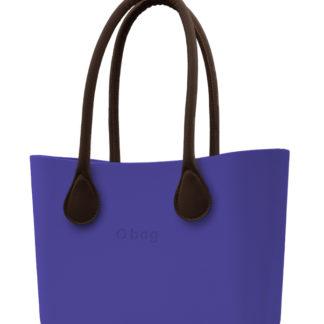 O bag kabelka Iris s hnědými dlouhými koženkovými držadly