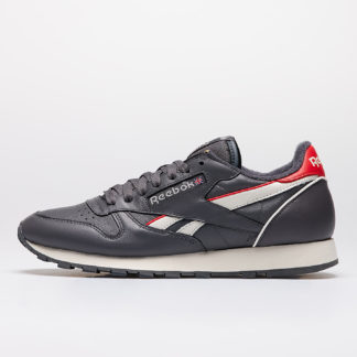 Reebok Classic Leather MU True Grey 7/ Chalk / Radiate Red