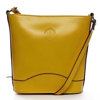 Žlutá kožená crossbody kabelka - ItalY Bryana Dark žlutá