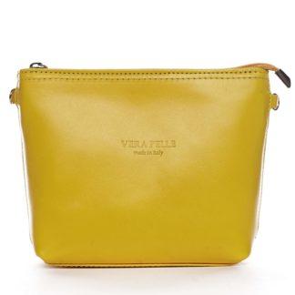 Dámská kožená crossbody kabelka žlutá - ItalY Garnet žlutá