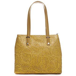 Exkluzivní dámská kožená kabelka žlutá - ItalY Logistilla žlutá