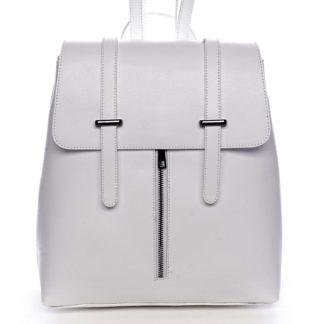 Dámský kožený batoh bílý - ItalY Waterfall bílá