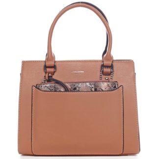 Exkluzivní dámská kabelka oranžová - David Jones Joan oranžová