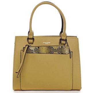 Exkluzivní dámská kabelka žlutá - David Jones Joan žlutá