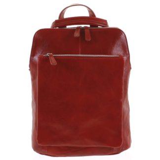 Dámský kožený batoh kabelka červený - ItalY Englidis červená