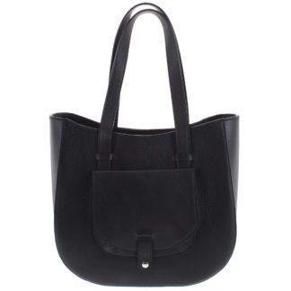 Dámská kožená kabelka přes rameno černá - ItalY Normani černá