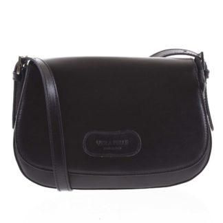 Dámská kožená crossbody kabelka černá - ItalY Fisher černá