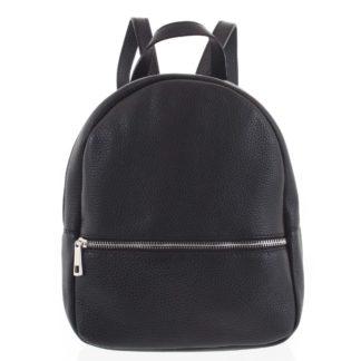 Dámský kožený batůžek černý - ItalY Mouseph černá