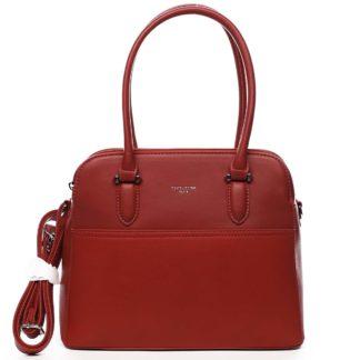 Dámská kabelka přes rameno červená - David Jones Lalapona červená