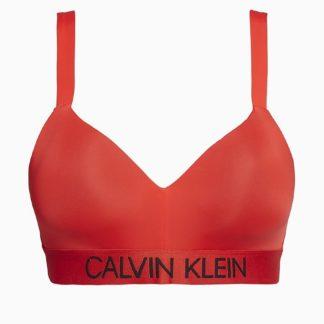 Calvin Klein červený horní díl plavek Demi Bralette Plus Size