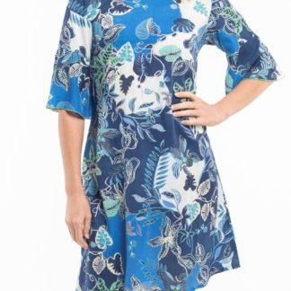 Orientique modré šaty Agenia