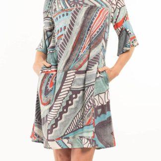 Orientique barevné šaty Faraga s kapsami