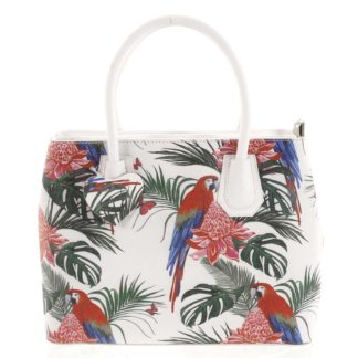 Originální dámská kožená kabelka bílá - ItalY Mattie Ara bílá