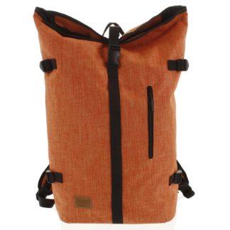Jedinečný velký stylový unisex batoh oranžový - New Rebels Rebback oranžová